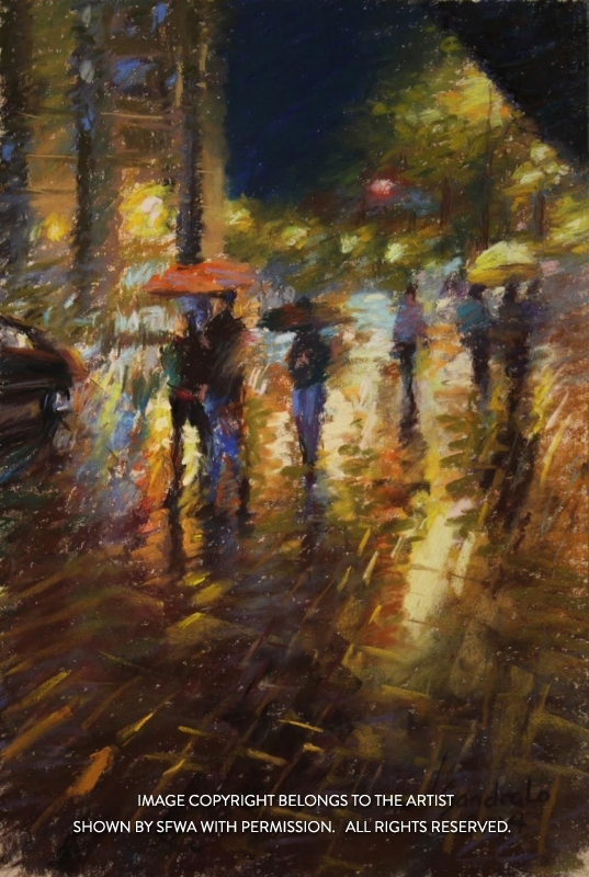 LoSa_RainyNightinSanFrancisco_Pastel_22x16