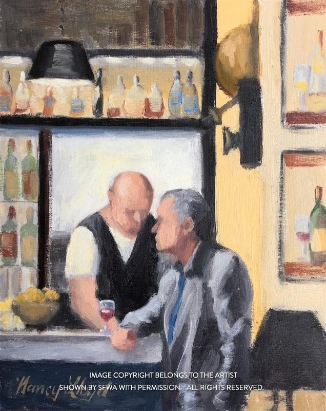LloydNancyAtTheBar-oil13.5x15.5