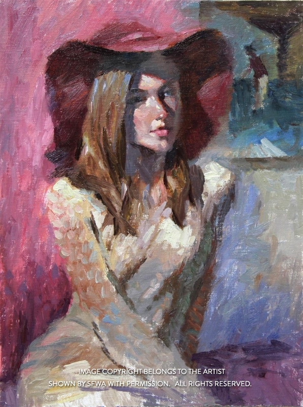 LoSa_GirlWithRedHat_Oil_18x22