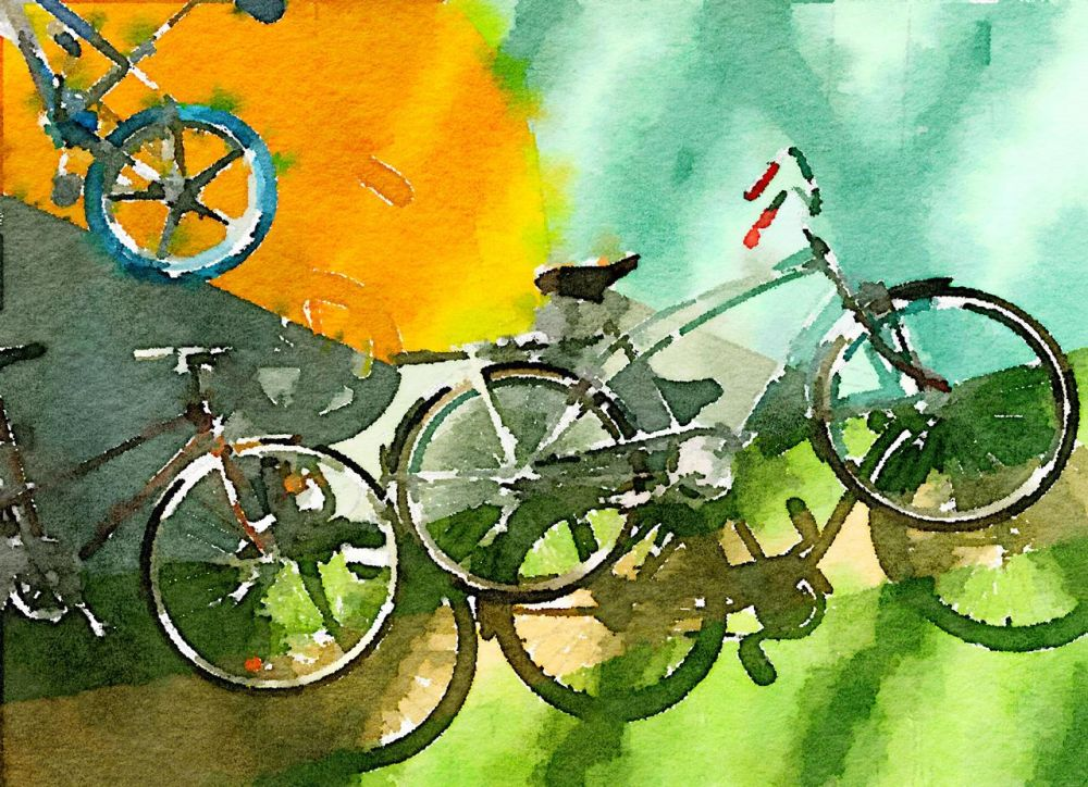 KayCh_Bicycle-Display_PhotoArt_11x14