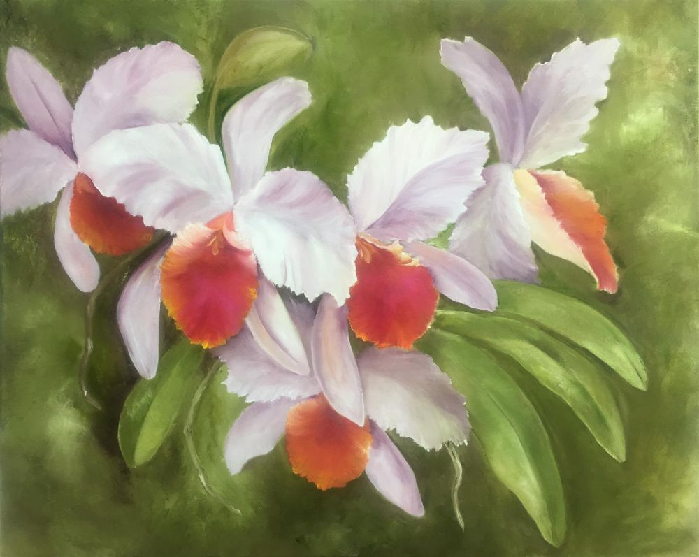 BridonMarilyn_Cattleyas_Oil_24x30