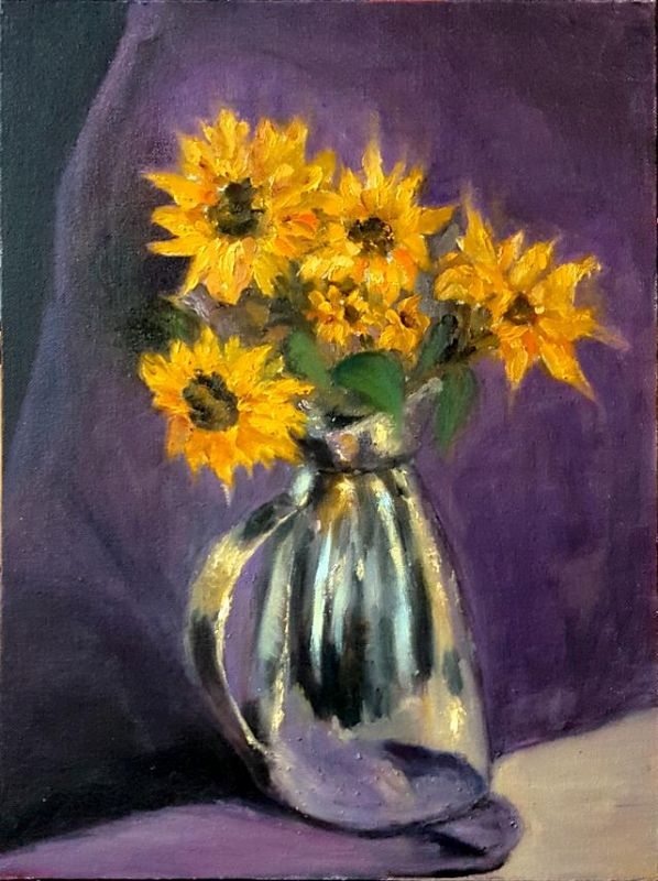 DoongarwalNimisha_Sunflower-Reflection_Oil_16x12