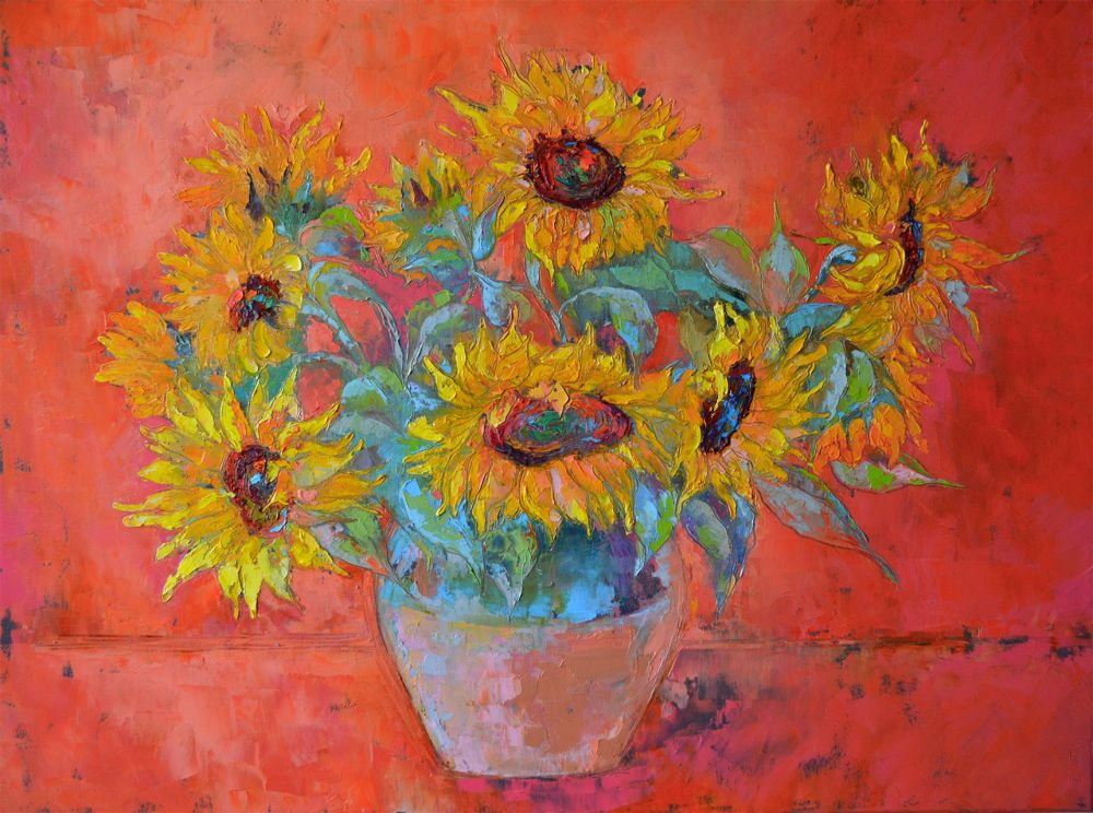 EvangelidyIrina_Sunflowers_Oil_30x40