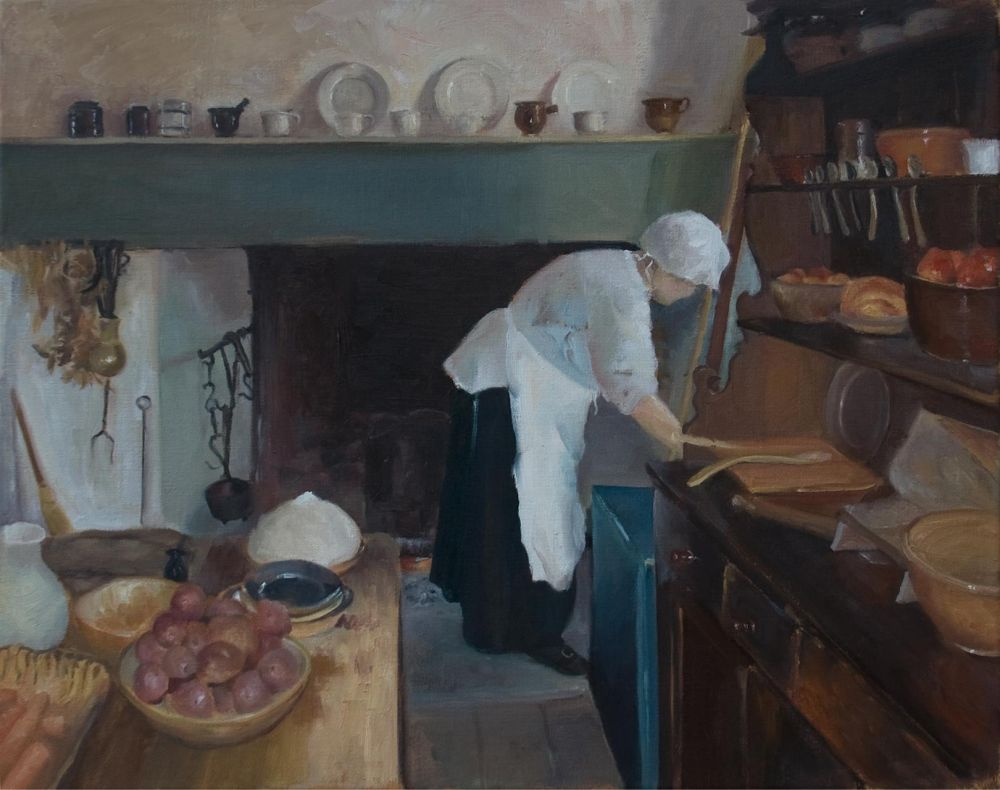 BrownBe_CookingattheHibbs_Oil_21x25