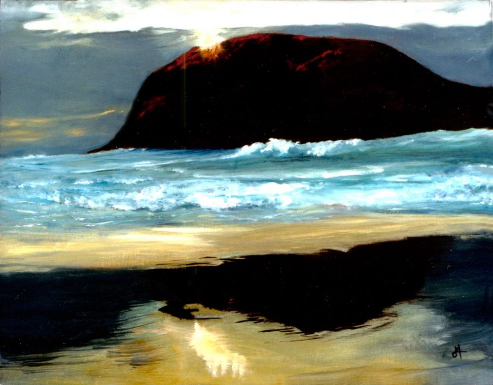 MorenoCa-North-coast-reflections_Oil_16x20