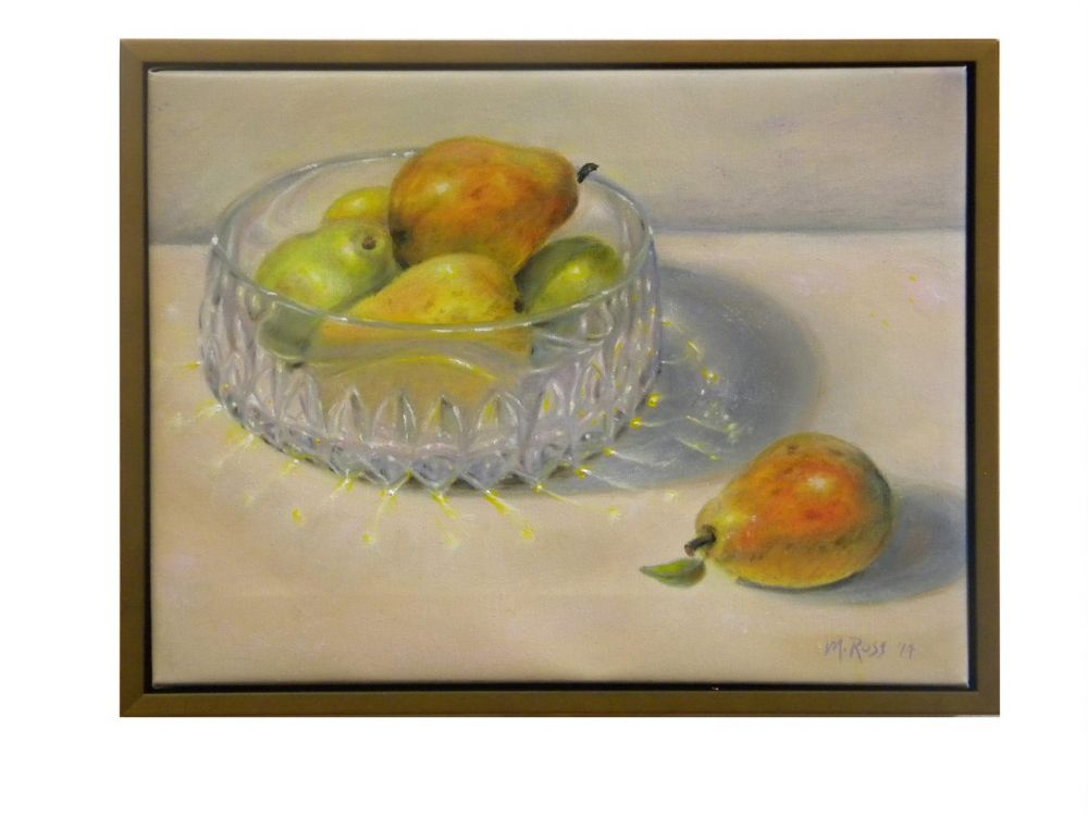 RossMa-Crystal-bowl-with-pears_Oil_12x15