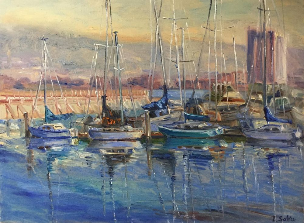 SabreIr-Marina-Reflections_Oil_24.5x30.5