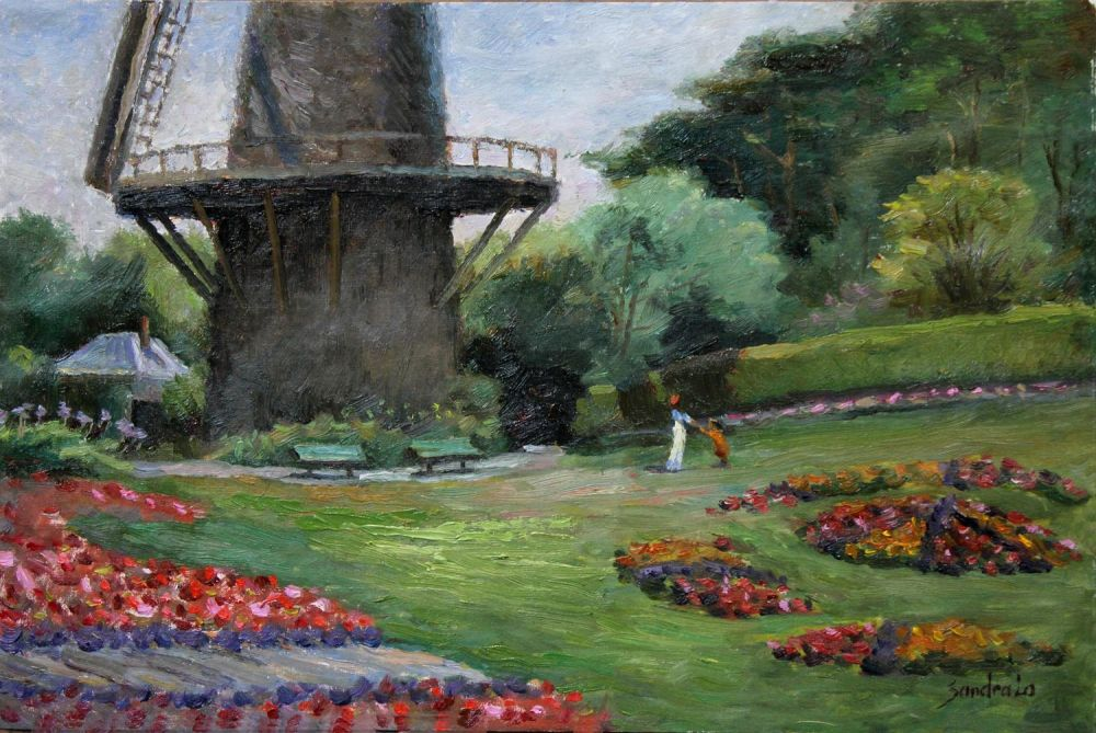 LoSa_Dutch-Windmill-in-Golden-Gate-Park_Oil_16x22