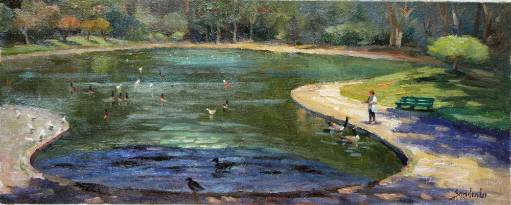 LoSa_Spreckles-Lake-in-Golden-Gate-Park_Oil_12x24