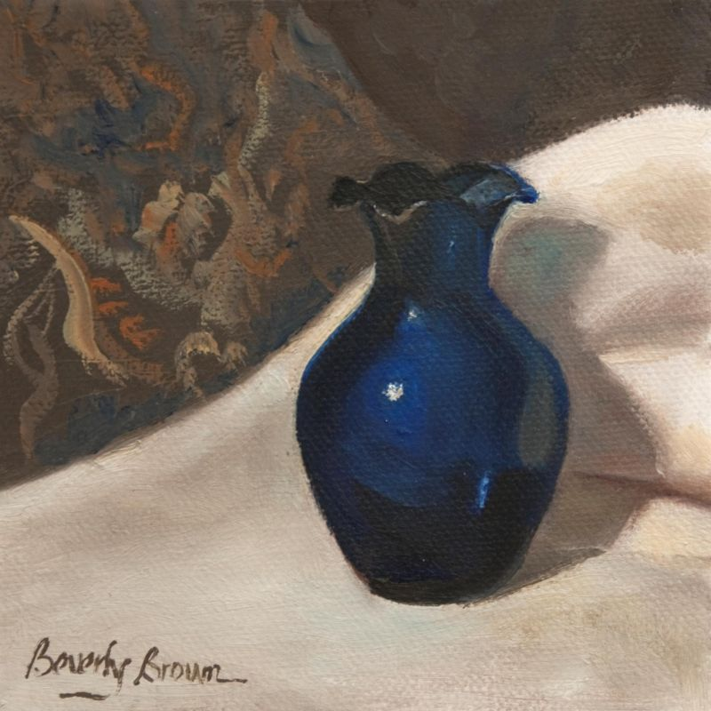 BrownBe-Blue-Vase_Oil_5x5
