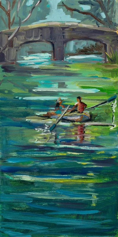 MasseyMa-Stow-Lake-Courtship_Oil_12x6