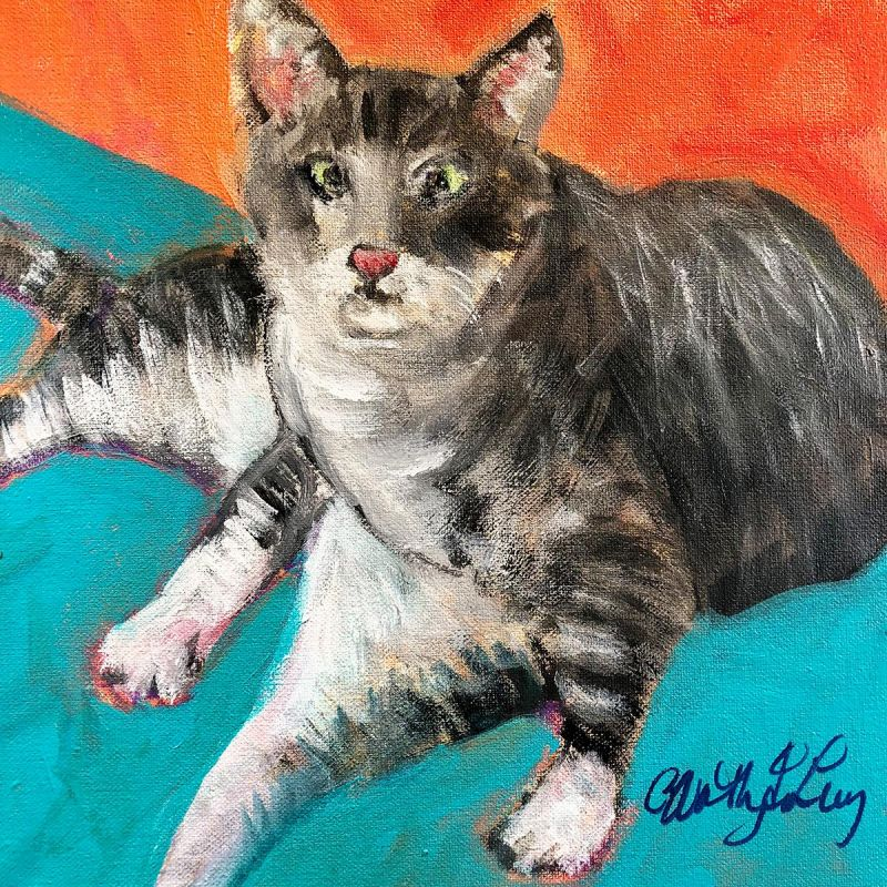 Worthington-LevyCa-Hendrix-1-Bathing-Kitty_Acr_12x12
