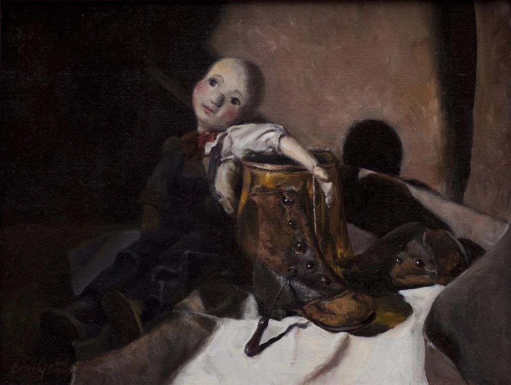 BrownBe_The-Puppet-Henry-and-the-High-Button-Shoes__Oil_16.5x20.5