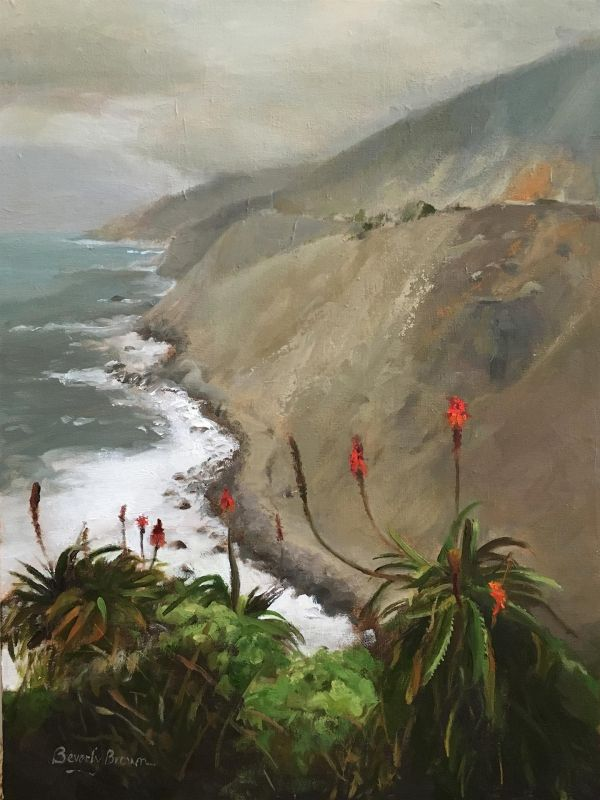 BrownBe-Big-Sur-Yuccas_Oil21x17