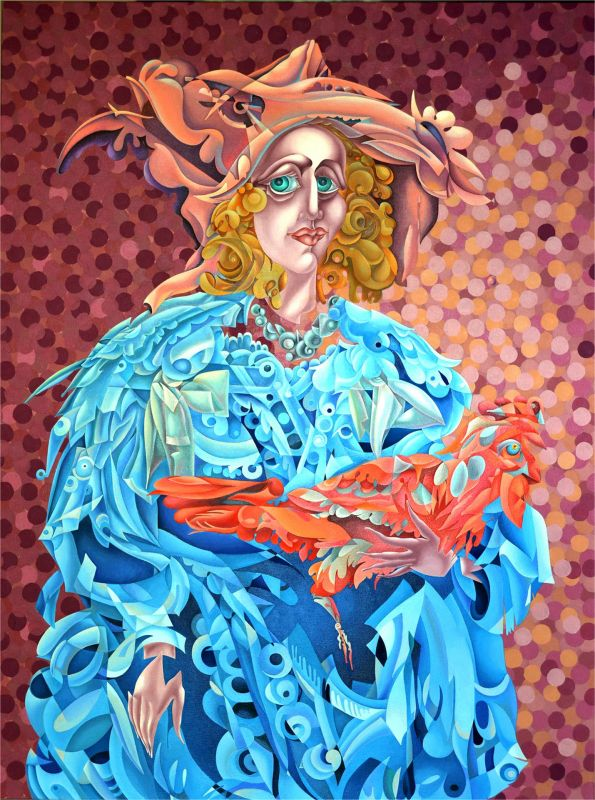 EvangelidyIr-Reimagining-Stanziones-Portrait-of-Woman-in-Neapolitan-Costume_Oil48x36