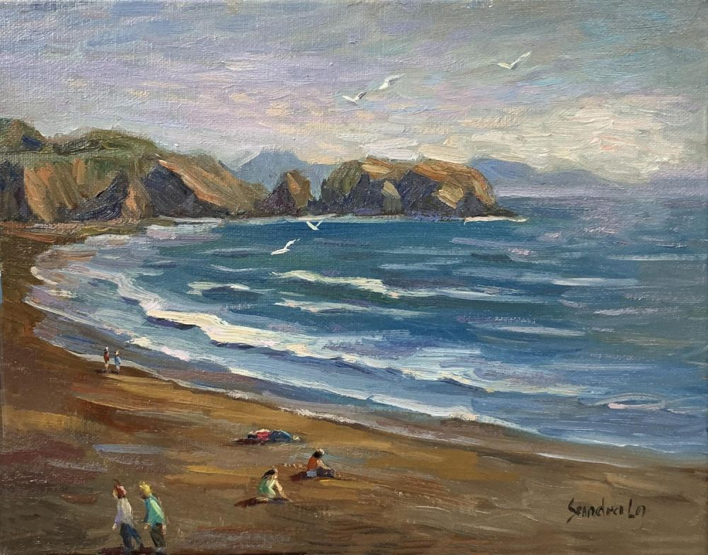 LoSa-Sunset-in-Marin-Headlands_Oil17x20