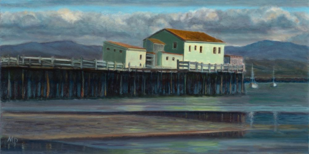 Paris-SeubertMi-The-Bygone-Days-of-Romeo-Pier-Half-Moon-Bay_Oil17x32