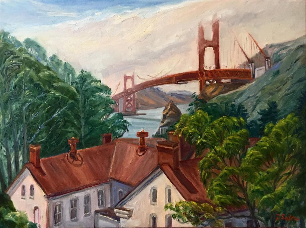 SabreIr-The-Bridge-from-Fort-Mason_Oil25x31