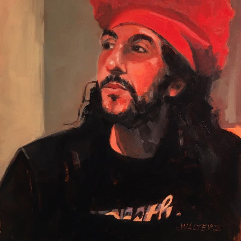 WaltersMa-Red-Toque_Oil12x12