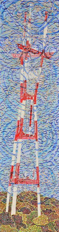 WolfTh-Electromagnetism-in-the-form-of-Sutro-Tower_Oil48x12