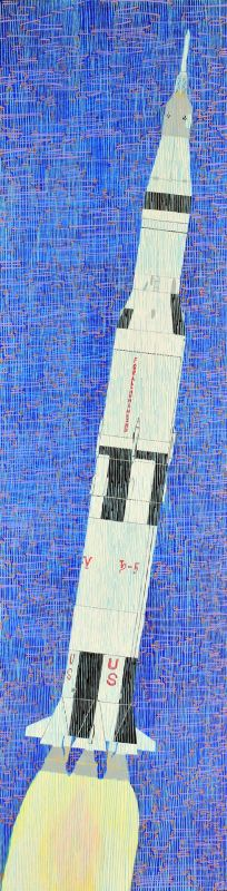 WolfTh-Gravity-in-the-form-of-a-Saturn-5-rocket_Oil48x12