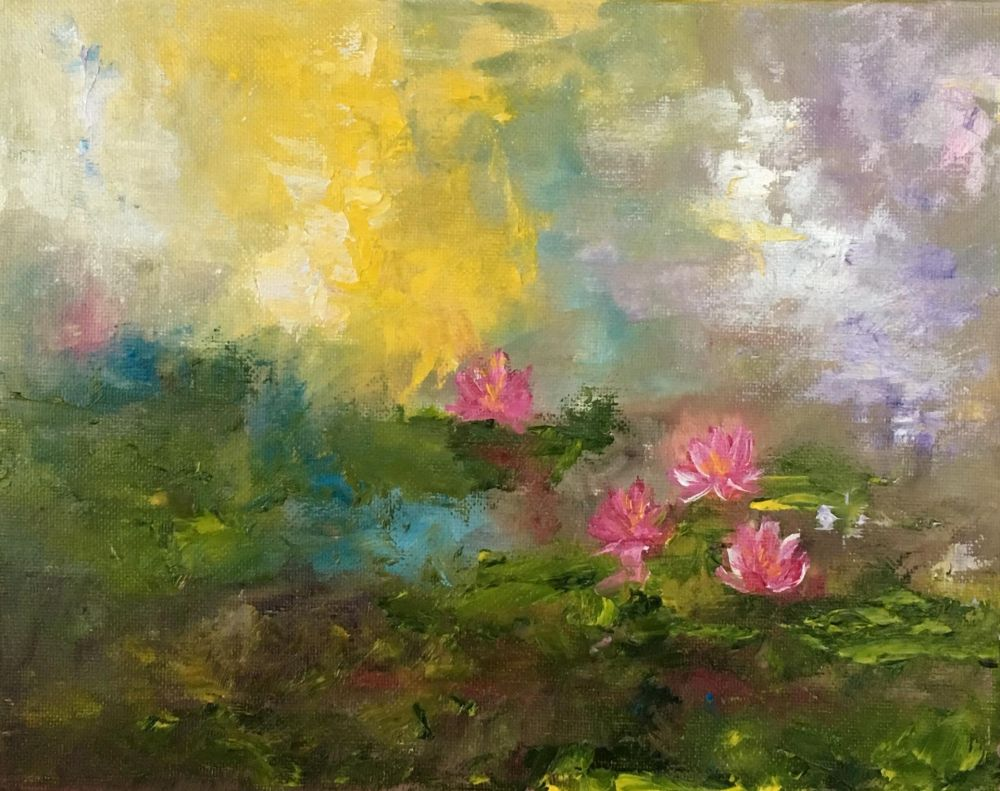 BridonMa-Water-Lily-Series-Sunrise_Oil_8x10