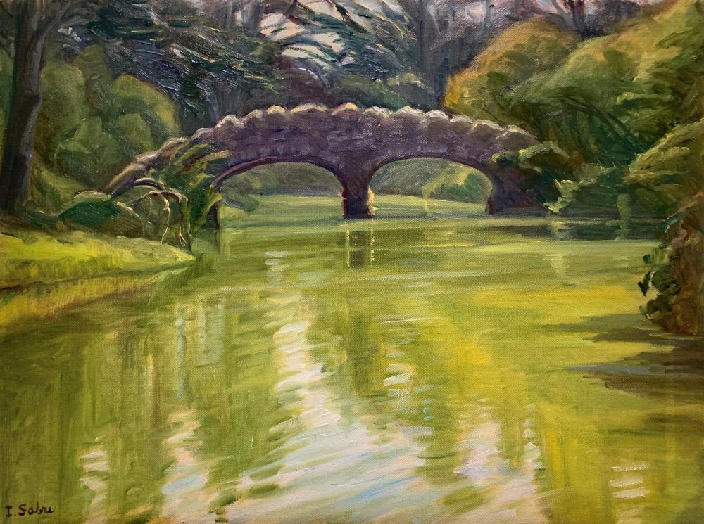 SabreIr-The-Stone-Bridge-Stow-Lake_Oil_24.5x30.5
