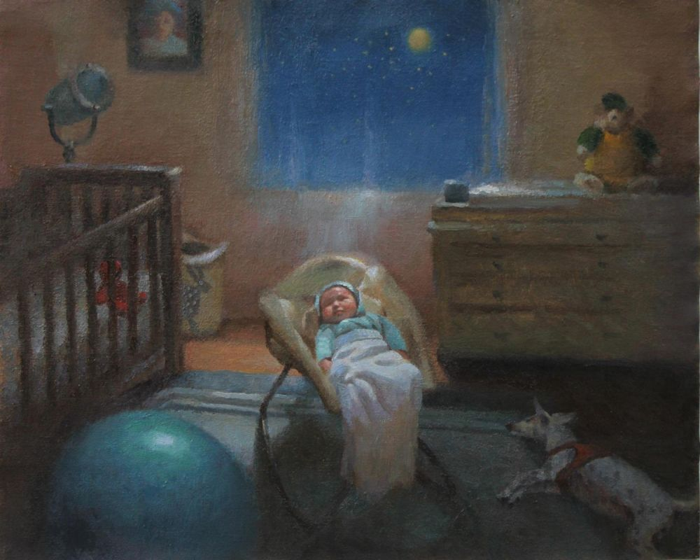 LoSa-On-The-Night-You-Were-Born_Oil_16x20