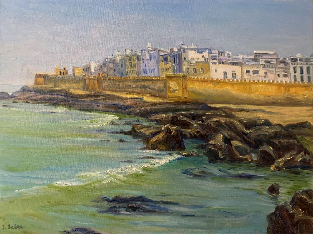 SabreIr-The-Old-Wall-Essaouira_Oil_24.5x30.5