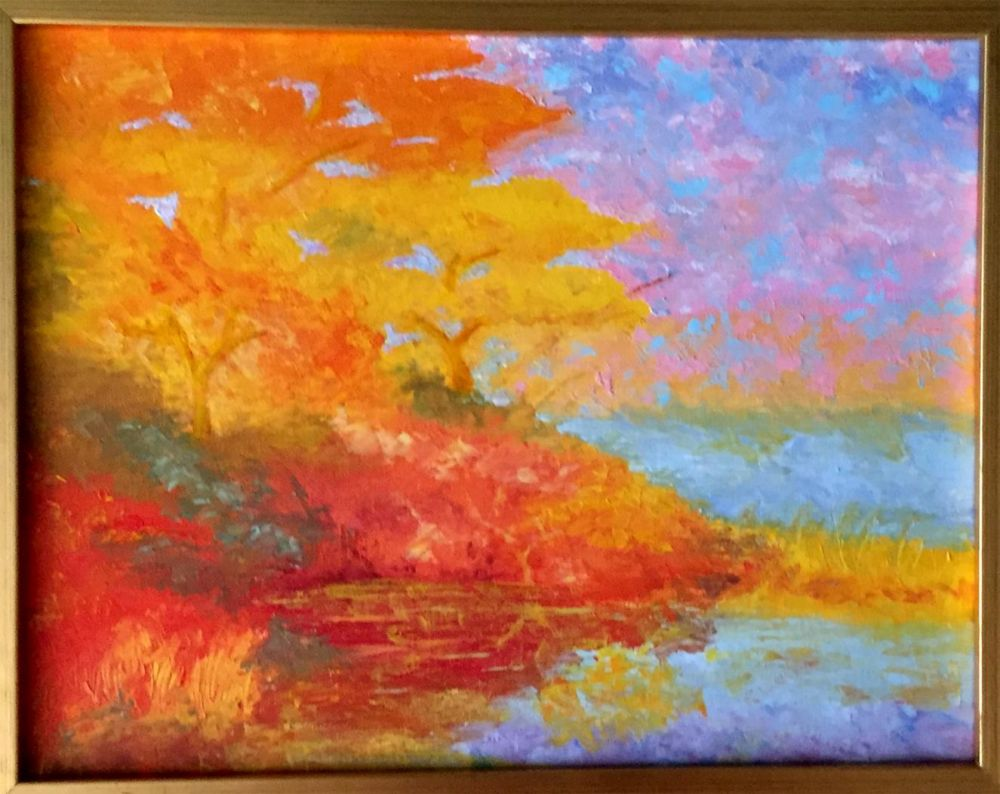 SweetserSt-Fall-Lake_Oil_22x16