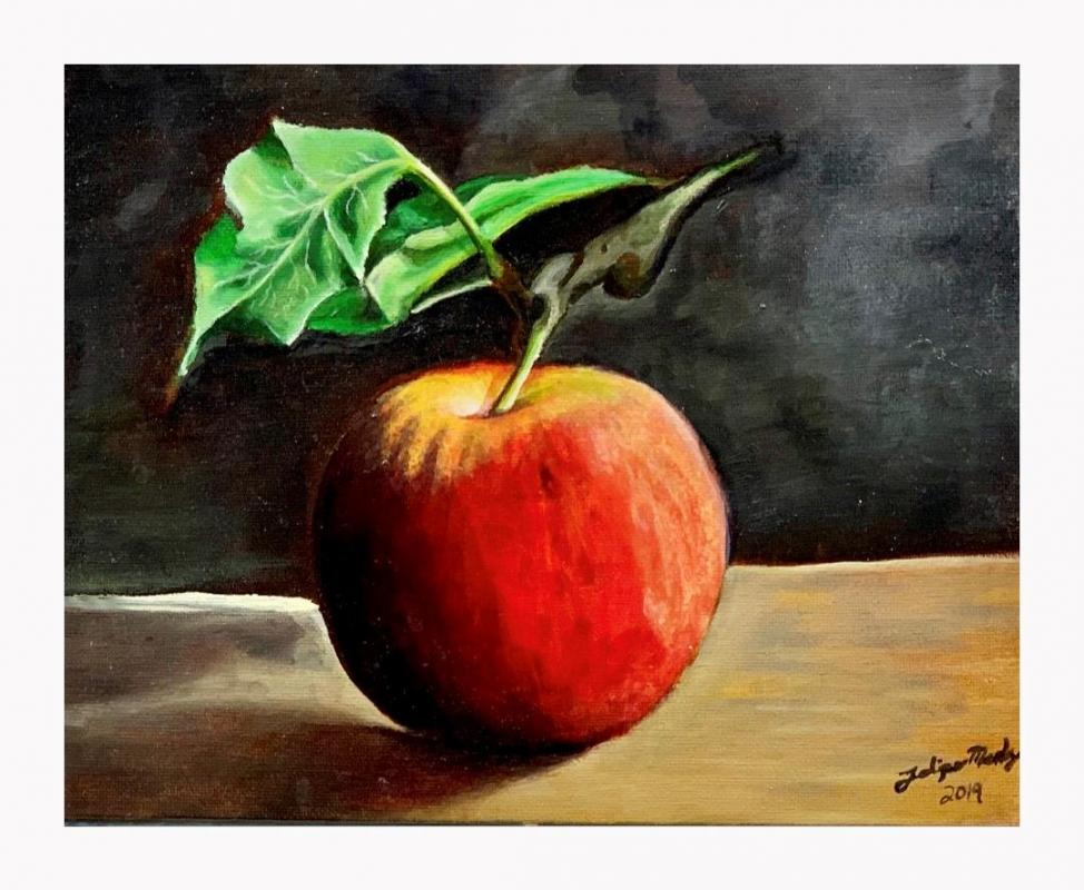 MendozaFe-Apple_Oil_8x8