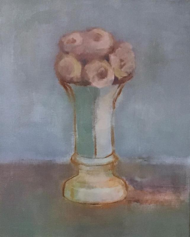 MooneyPa-Vase-with-Pink-Flowers_Oil_22x18