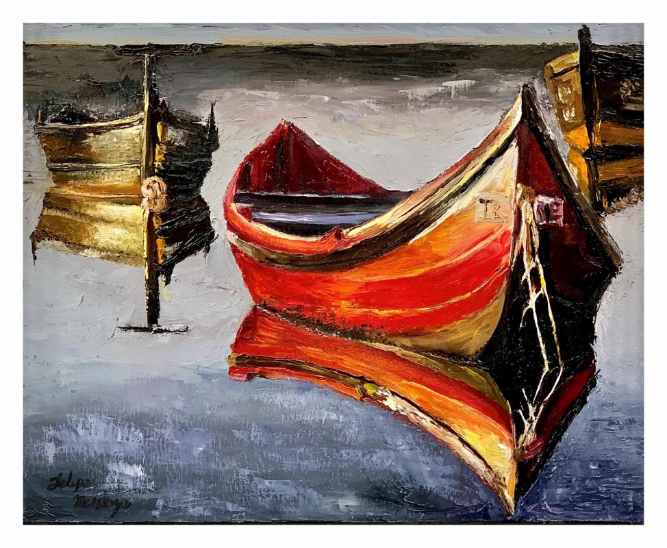 MendozaFe-Boats_Oil_16x20