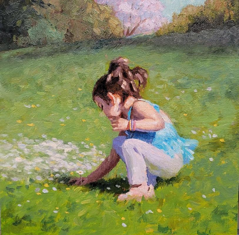 LoSa-Picking-flowers_Oil_12x12