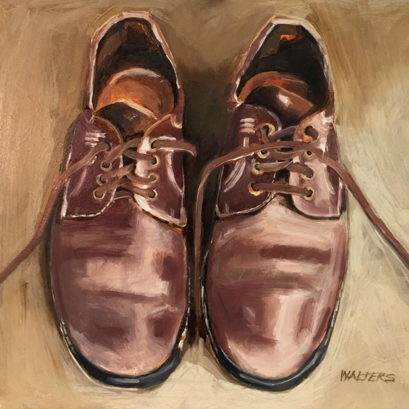WaltersMa_Cordovan-Shoes_Oil_12x12