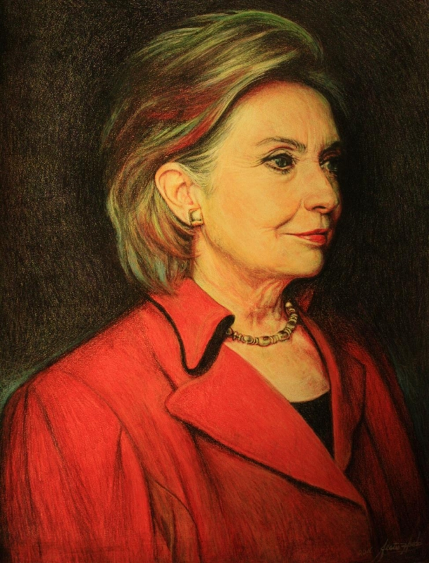 ZepedaJe_HillaryClinton_Secretary-of-State_Drawing_18x28