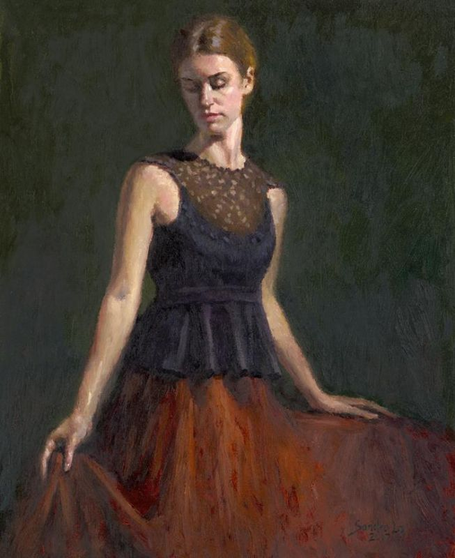 LoSa-An-Elegant-Young-Girl_Oil_24x20