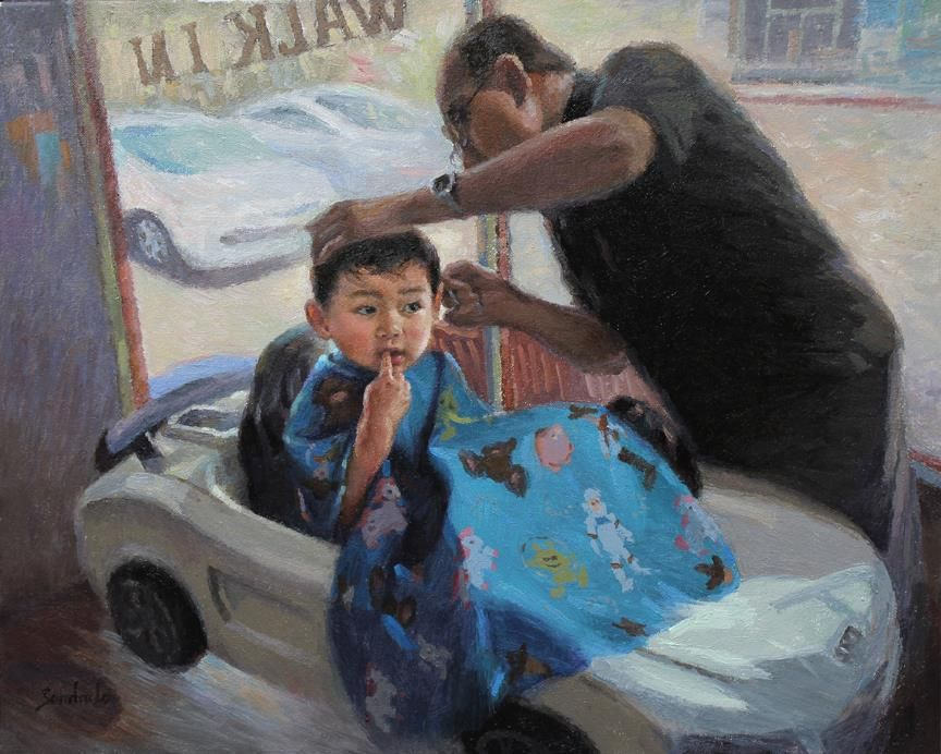 LoSa-My-Grandsons-First-Hair-Cut_Oil_20x24