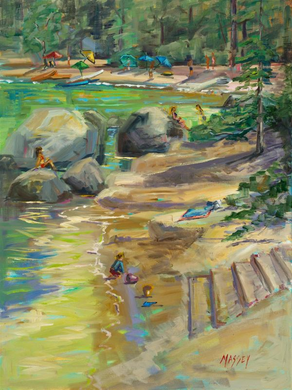 MasseyMa-Summer-Fun-at-Sand-Harbor_Oil_24x18