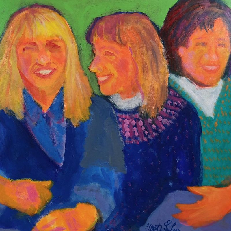 Worthington-LevyCa-Sisters-together_Acr_20x20