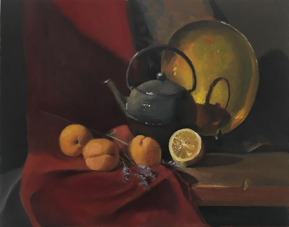 BrownBe-Iron-Teapot_Oil_15x18