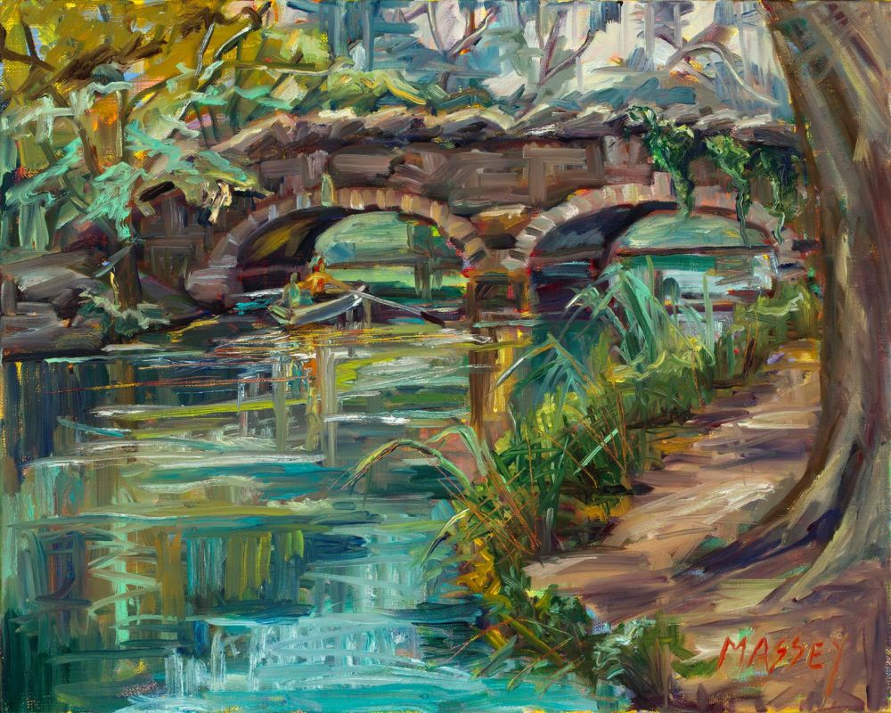 MasseyMa-Stow-Lake-Stone-Bridge_Oil_16x20