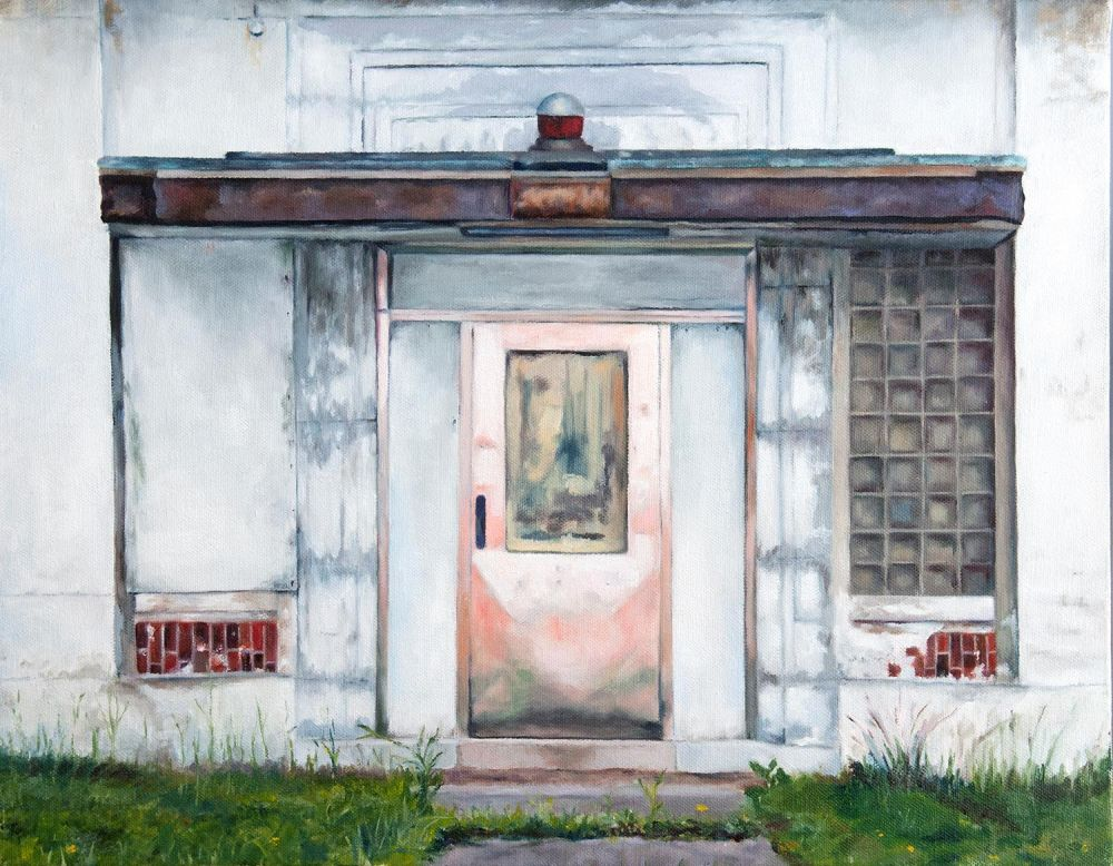 GrossKa-Pink_Door-at-the-old-Packard-Plant-Detroit_Oil_16x20