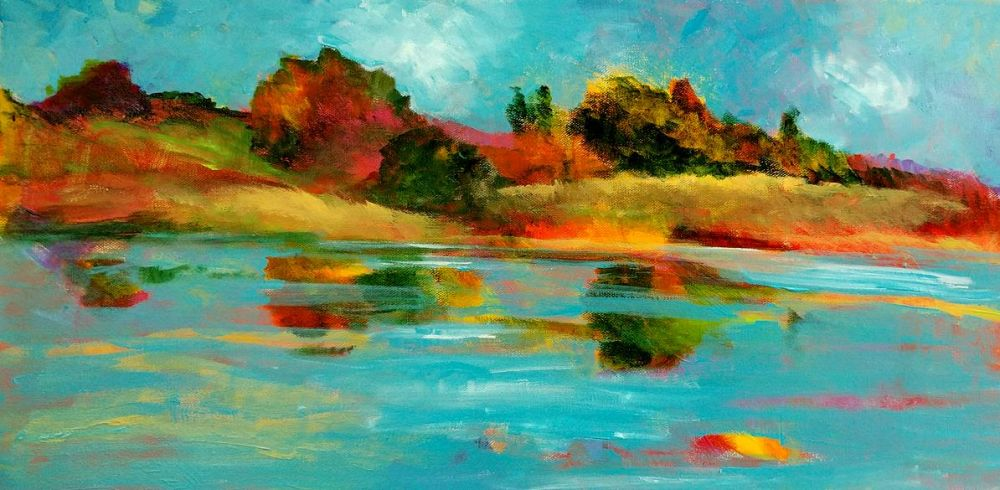 SolinDo_Lagoon-Reflections_Oil_12x24