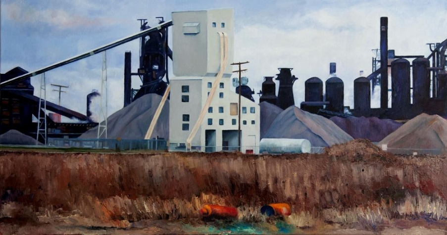 GrossKathleen-Downriver_oil18x36