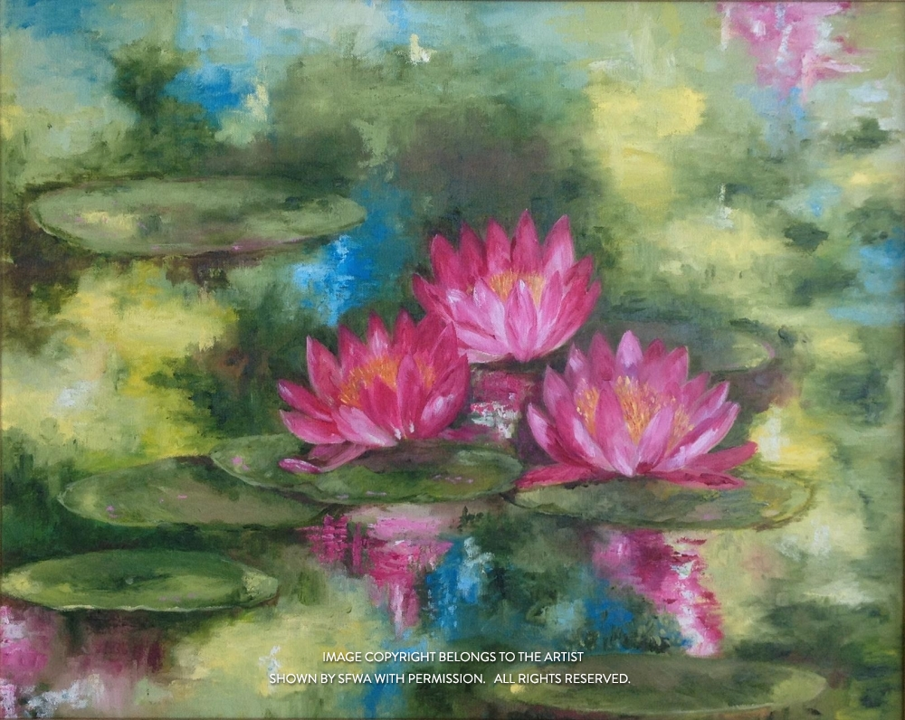 BridonMa_InTheMiddleOfThePond_Oil_32x26