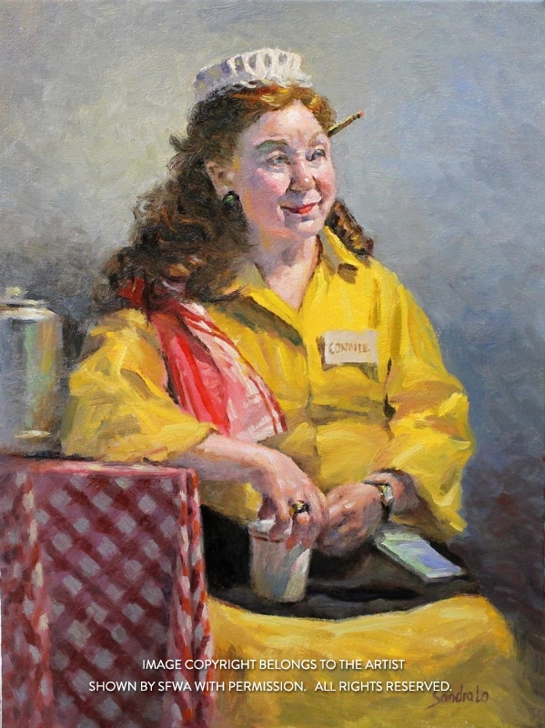 LoSa_ConnieTheWaitress_Oil_24x30