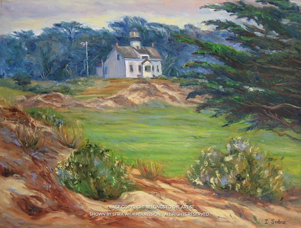 SabreIr_LighthouseAtAsilomar_Oil_2x24.5