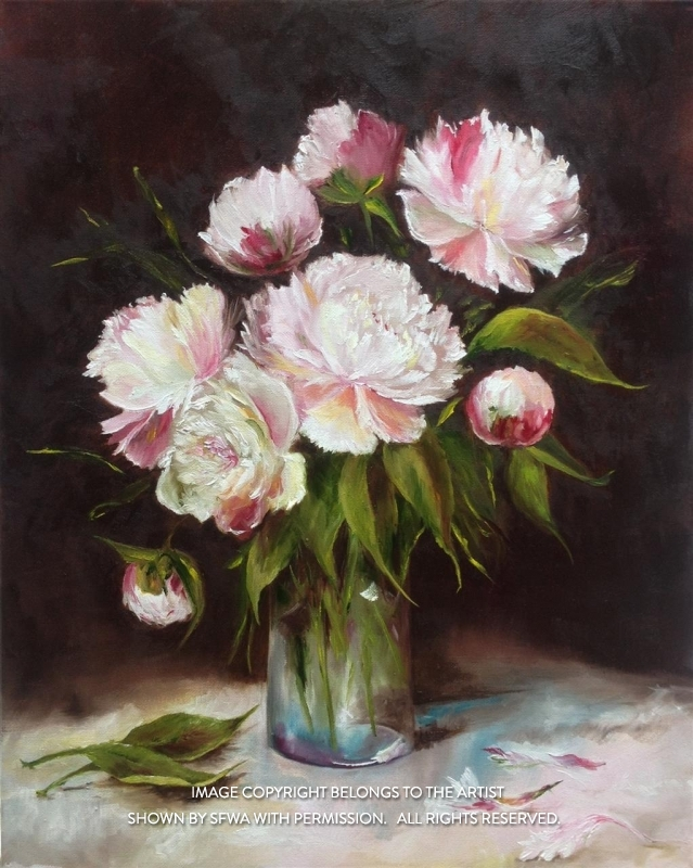 BridonMa_BouquetofPeonies_Oil_20x24