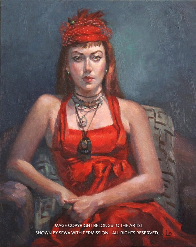 LoSa_MarianneinRed_Oil_20x24
